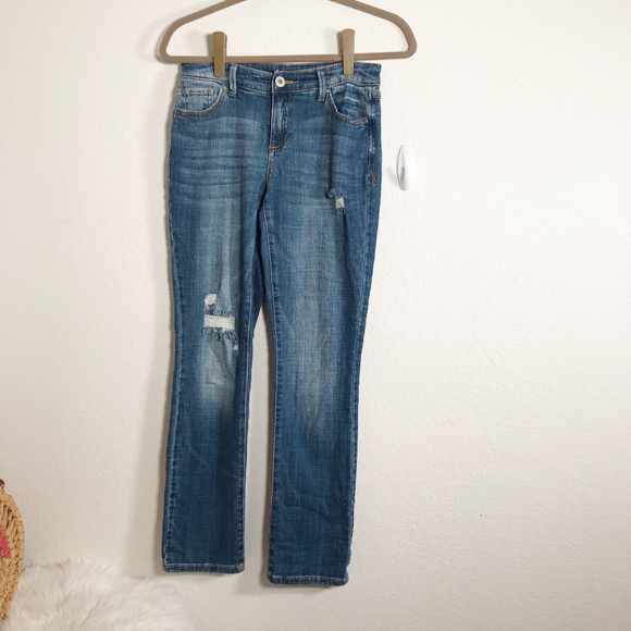 INC International Concepts Denim - Inc. Jeans Size 0 Straight Leg and Distressed